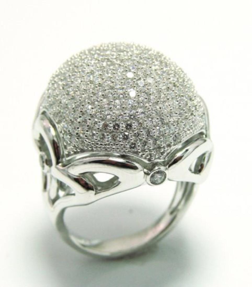 Diamond Creation  Ring 3.00Ct 18k W/g Overlay