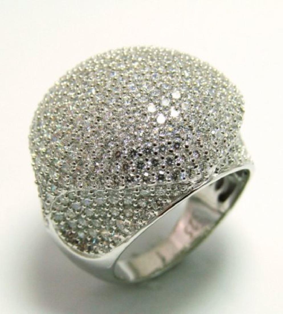 Creation Diamond Ring 3.30Ct 18k W/g Overlay