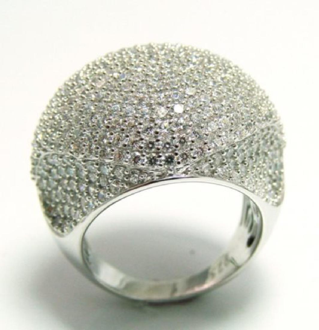 Creation Diamond Ring 3.30Ct 18k W/g Overlay - 2