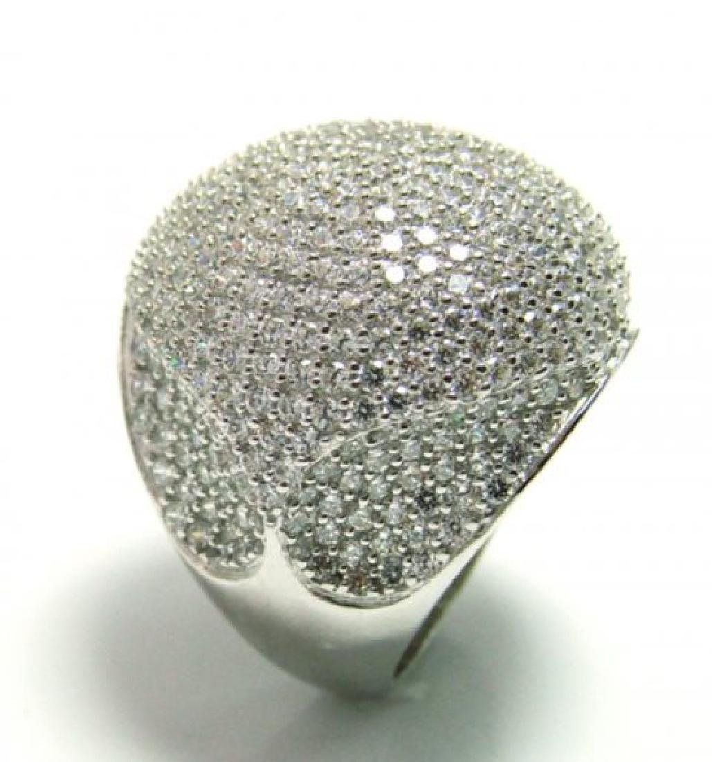 Creation Diamond Ring 3.30Ct 18k W/g Overlay - 3