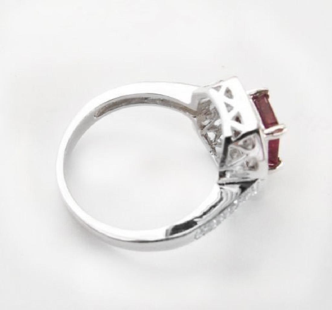Natural Ruby: 2.14CT Diamond: .22 CT Ring W/G - 6