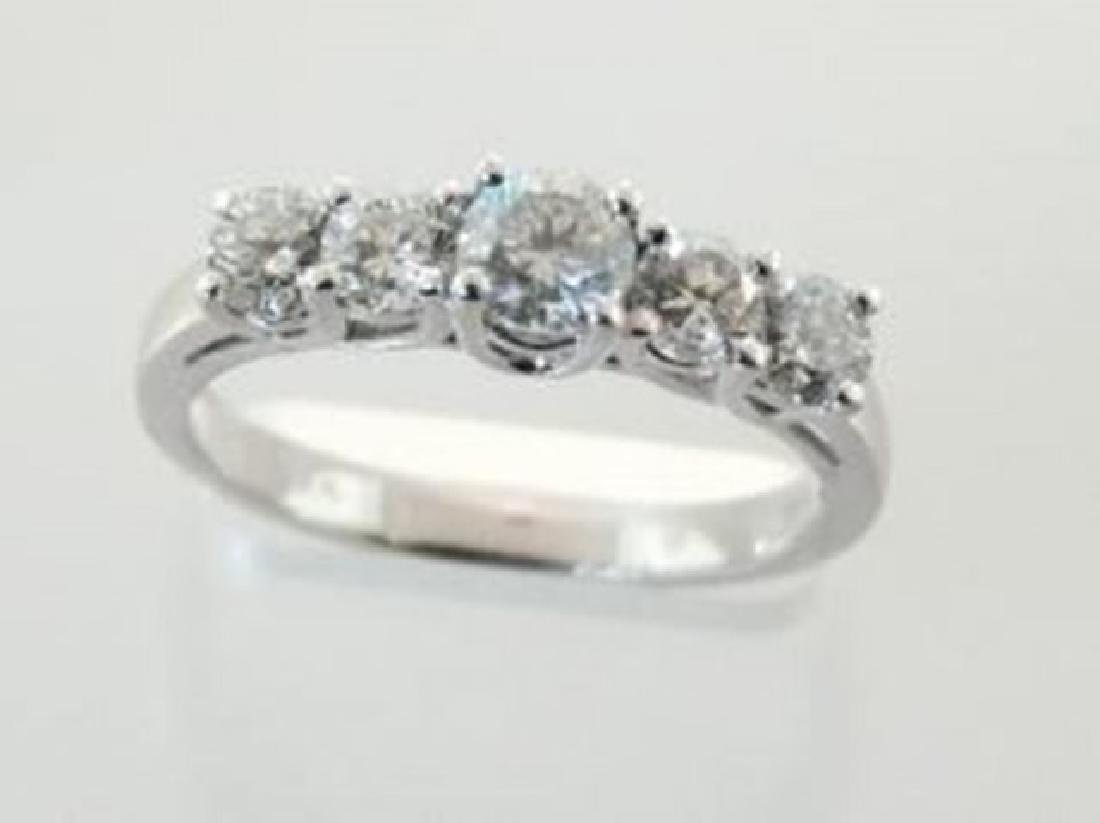Anniversary  Diamond  Ring 1. 12Ct 14k White Gold