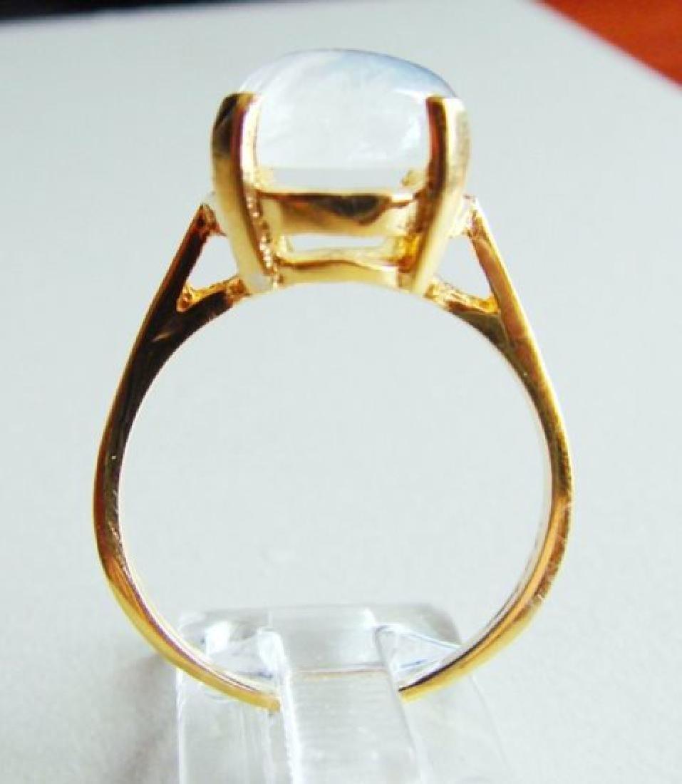 Natural Moonstone Ring 6.15Ct 14k Yellow Gold - 3