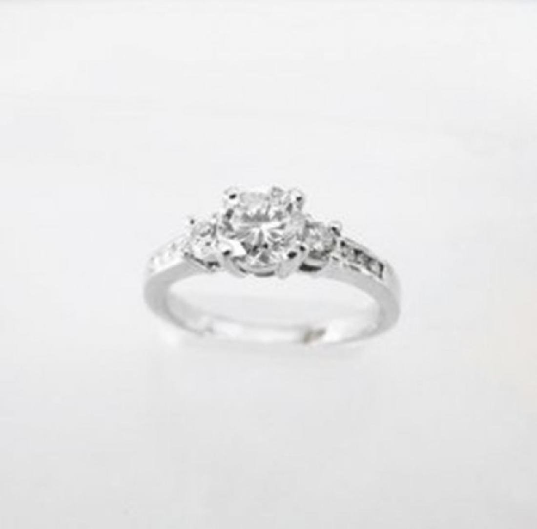 Wedding Diamond Ring 1.01Ct 18k W/g EGL Cert - 2