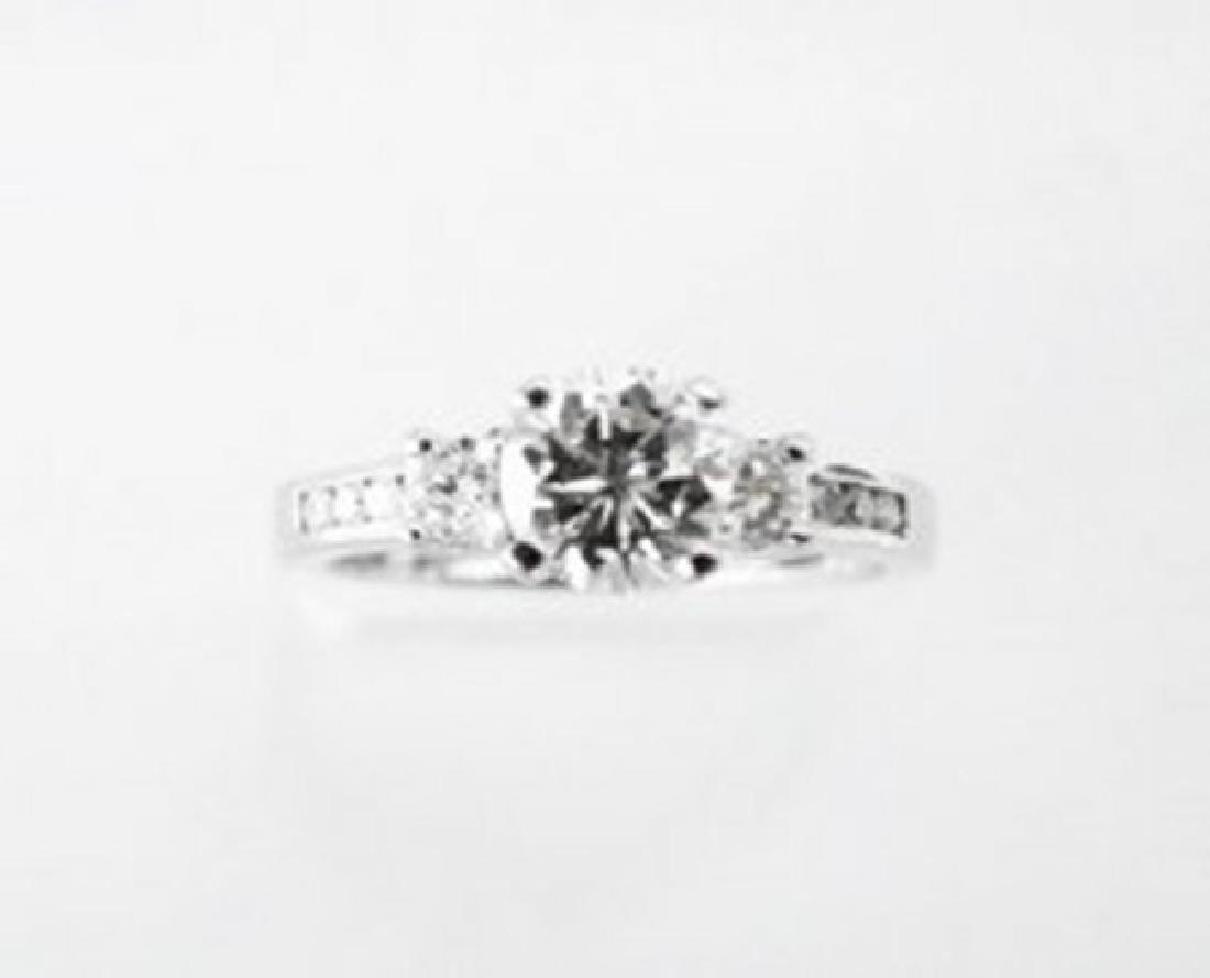 Wedding Diamond Ring 1.01Ct 18k W/g EGL Cert - 3