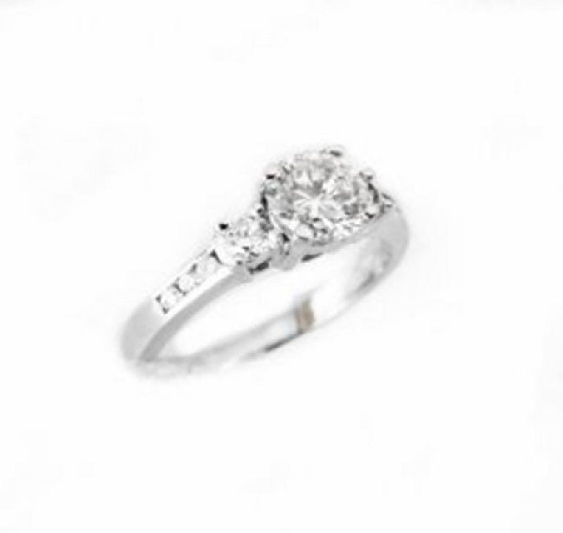 Wedding Diamond Ring 1.01Ct 18k W/g EGL Cert - 4
