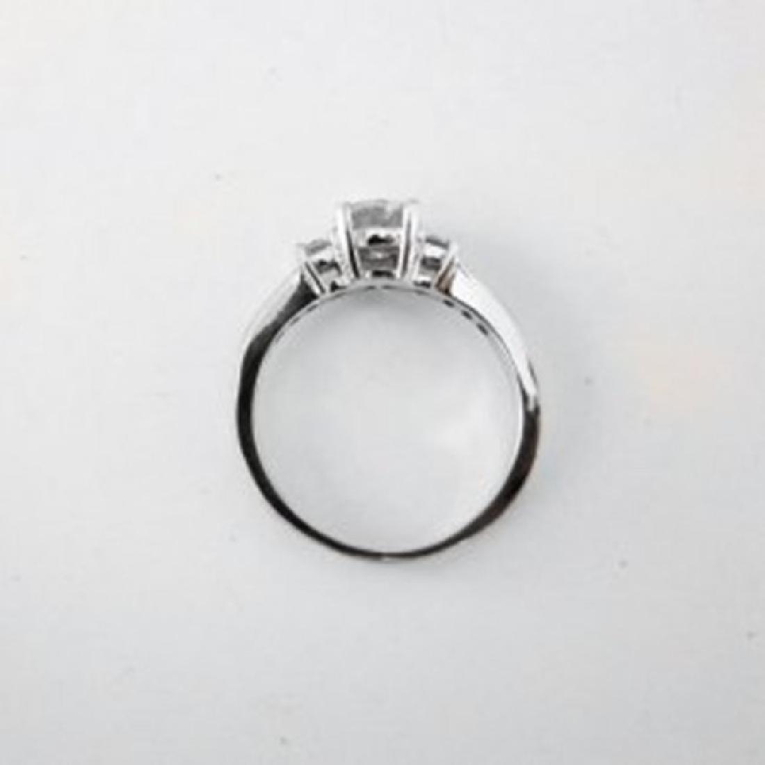 Wedding Diamond Ring 1.01Ct 18k W/g EGL Cert - 5