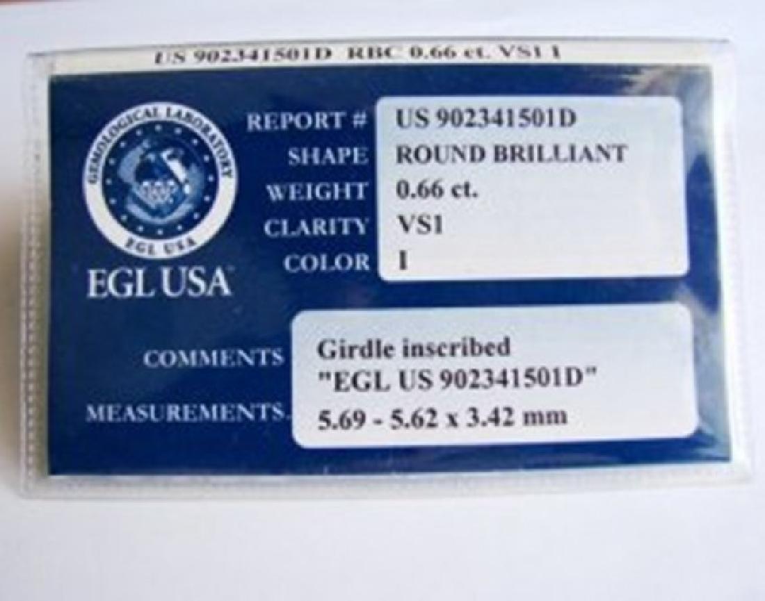 Wedding Diamond Ring 1.01Ct 18k W/g EGL Cert - 6