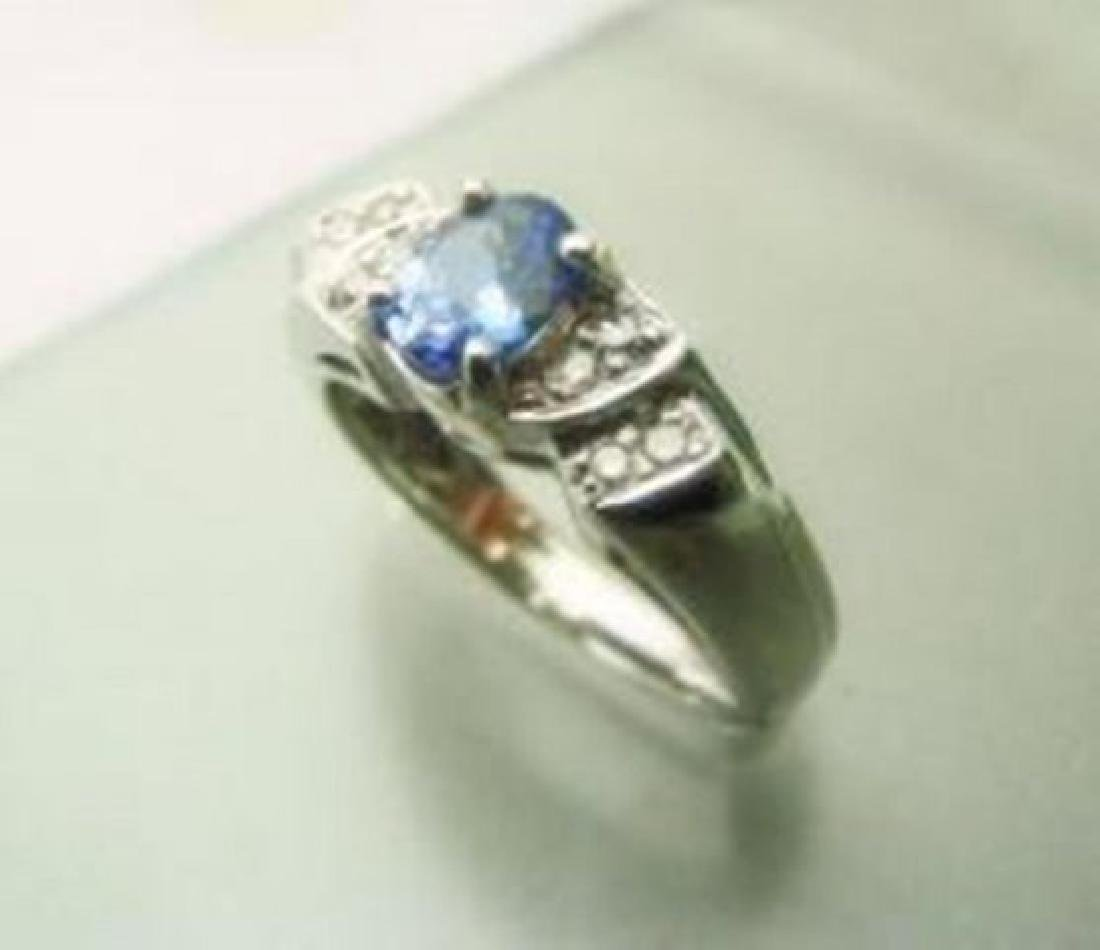 Tanzarnite: 1.10CT, Diamond: .25CT Ring 14k W/G - 2