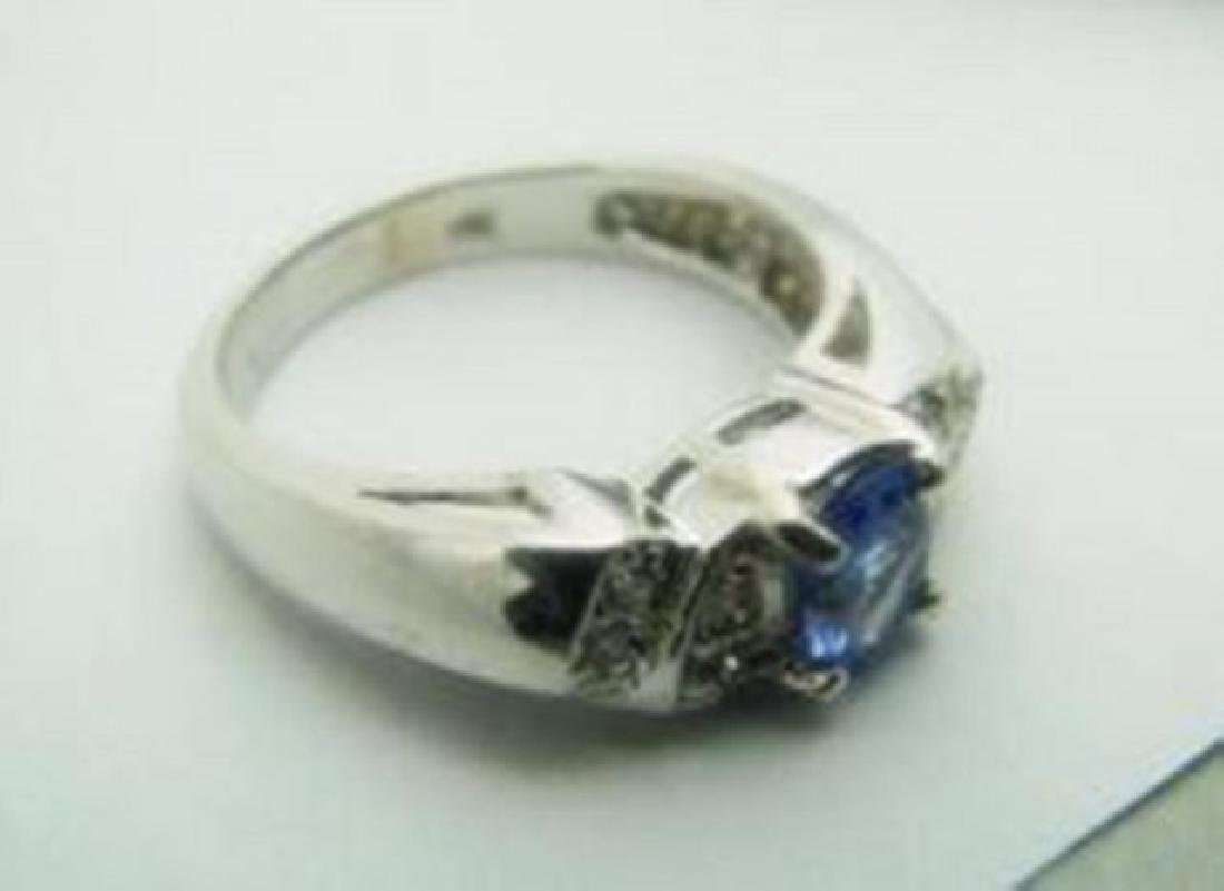 Tanzarnite: 1.10CT, Diamond: .25CT Ring 14k W/G - 3