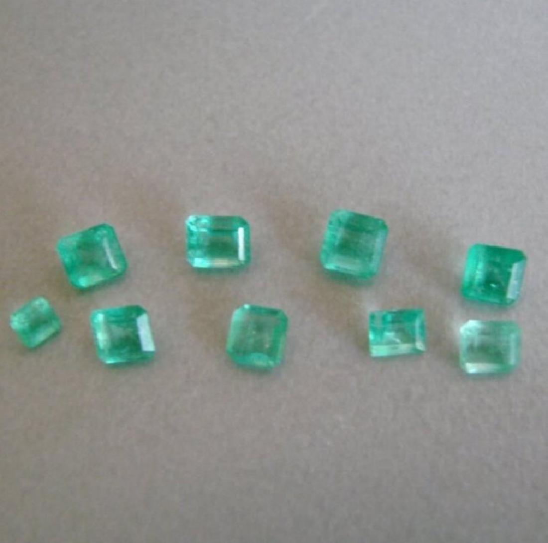 Lot 9 Pics Emerald Colombial Octagon 3.54Ct - 2