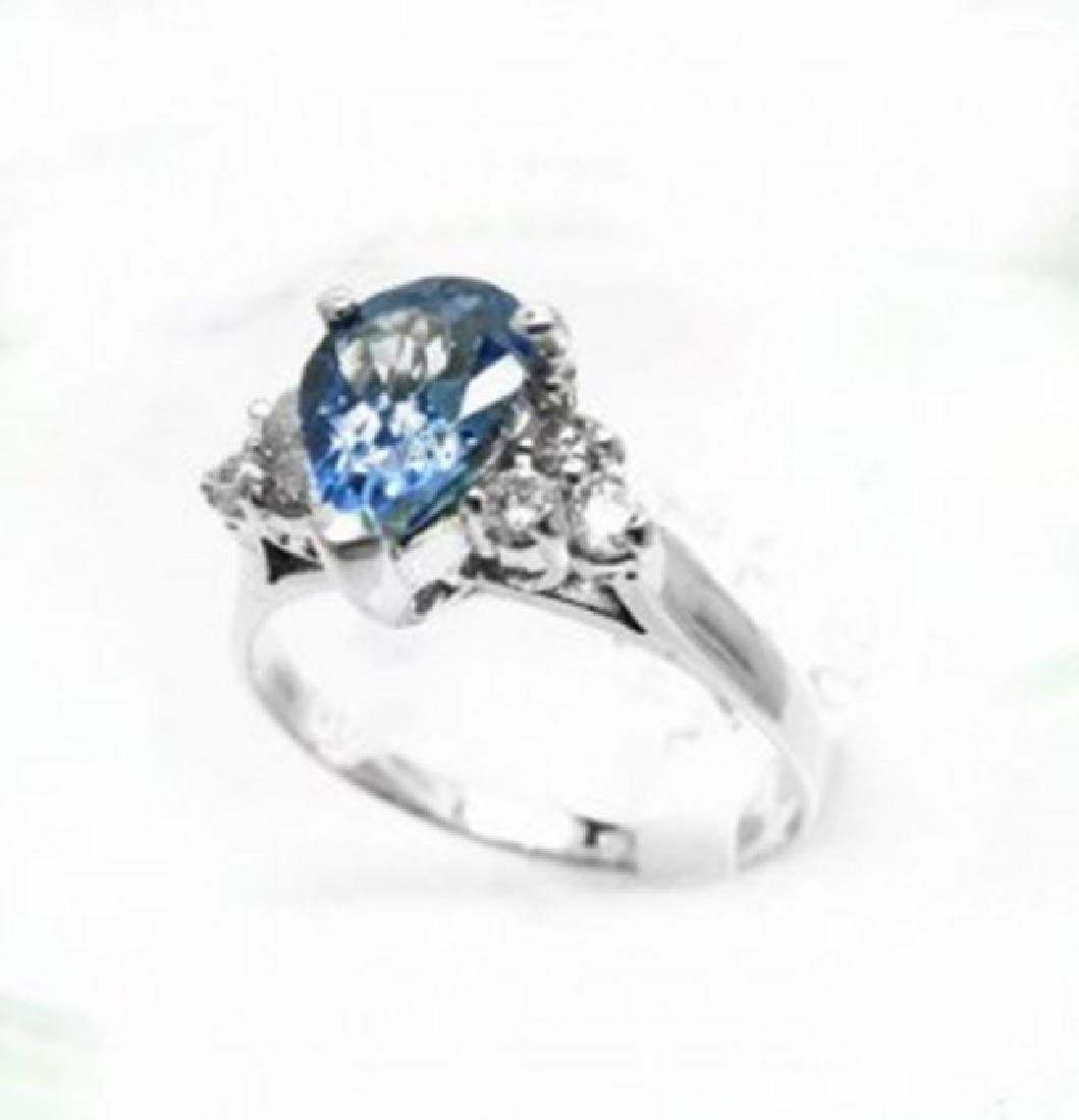 Natural Tanzanite & Diamond Ring 1.73Ct 14k W/g - 3