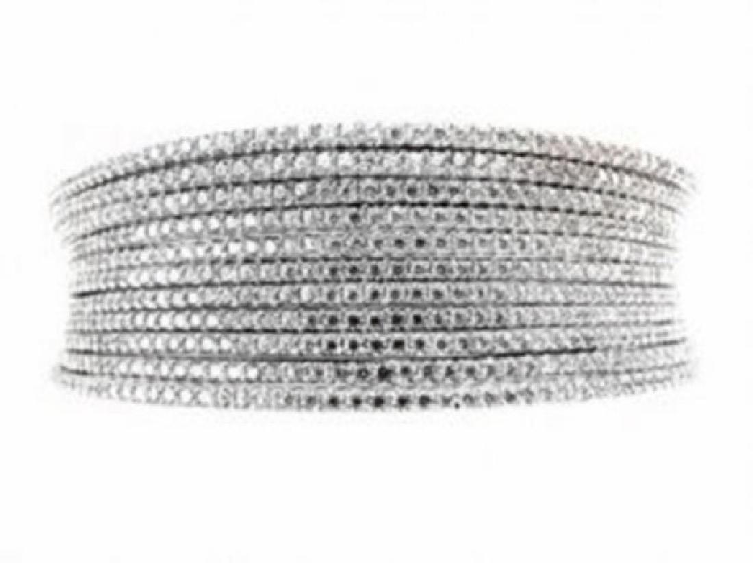 Creation Diamond Bangle 10.56Ct 18k W/g Overlay