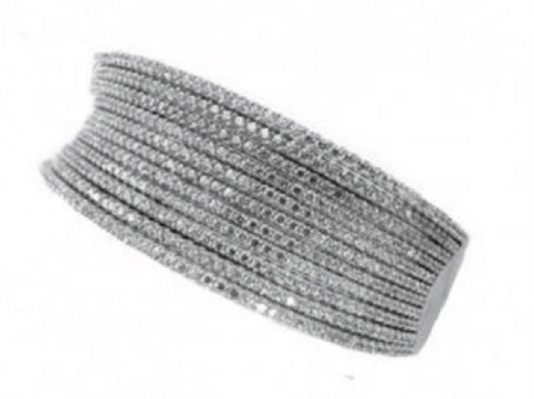 Creation Diamond Bangle 10.56Ct 18k W/g Overlay - 3