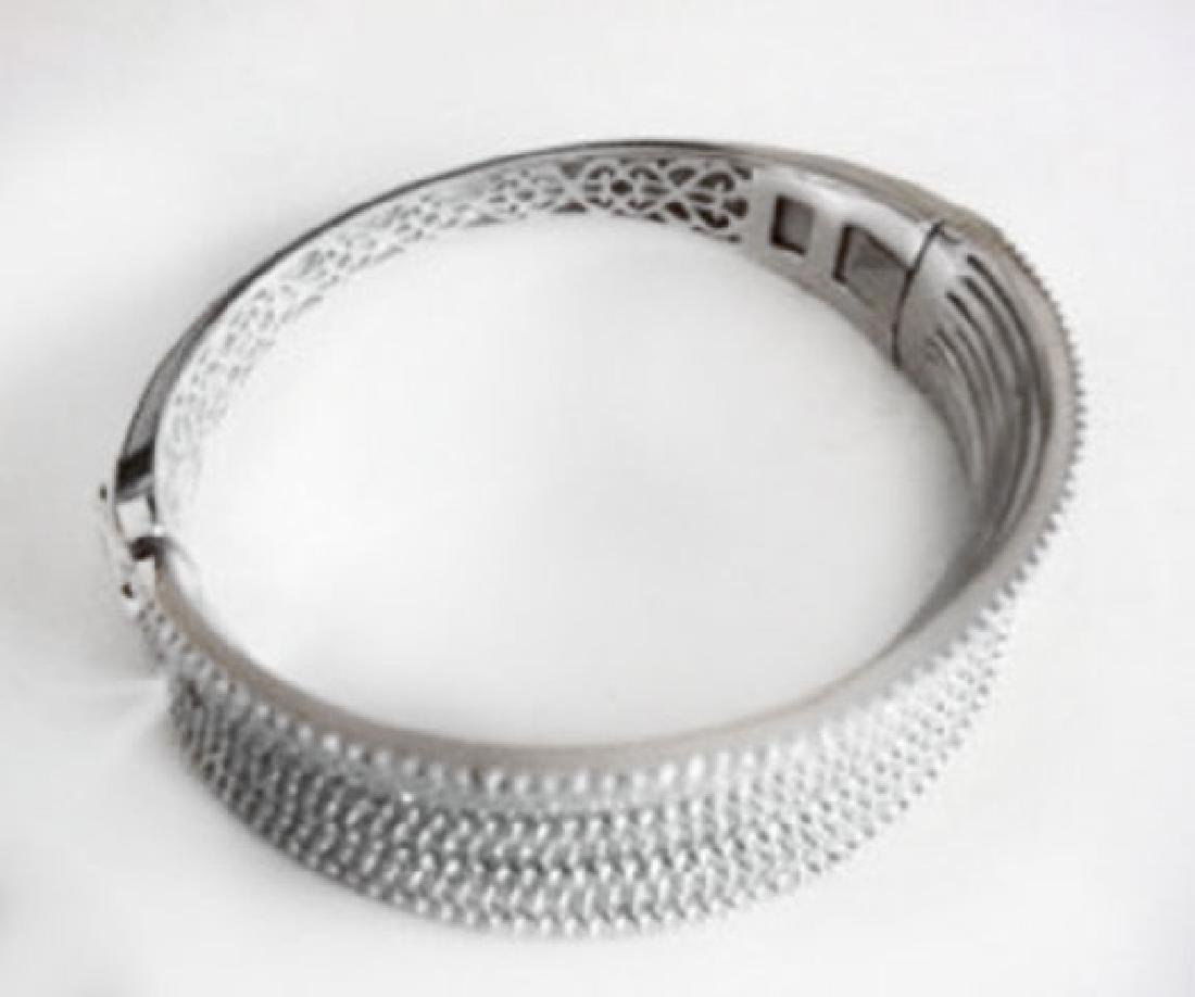 Creation Diamond Bangle 10.56Ct 18k W/g Overlay - 4