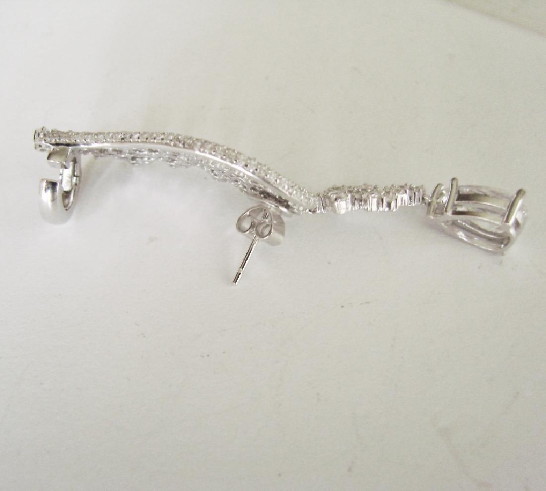 Creation Diamond Earring 22.58Ct 18k W/g Overlay - 3