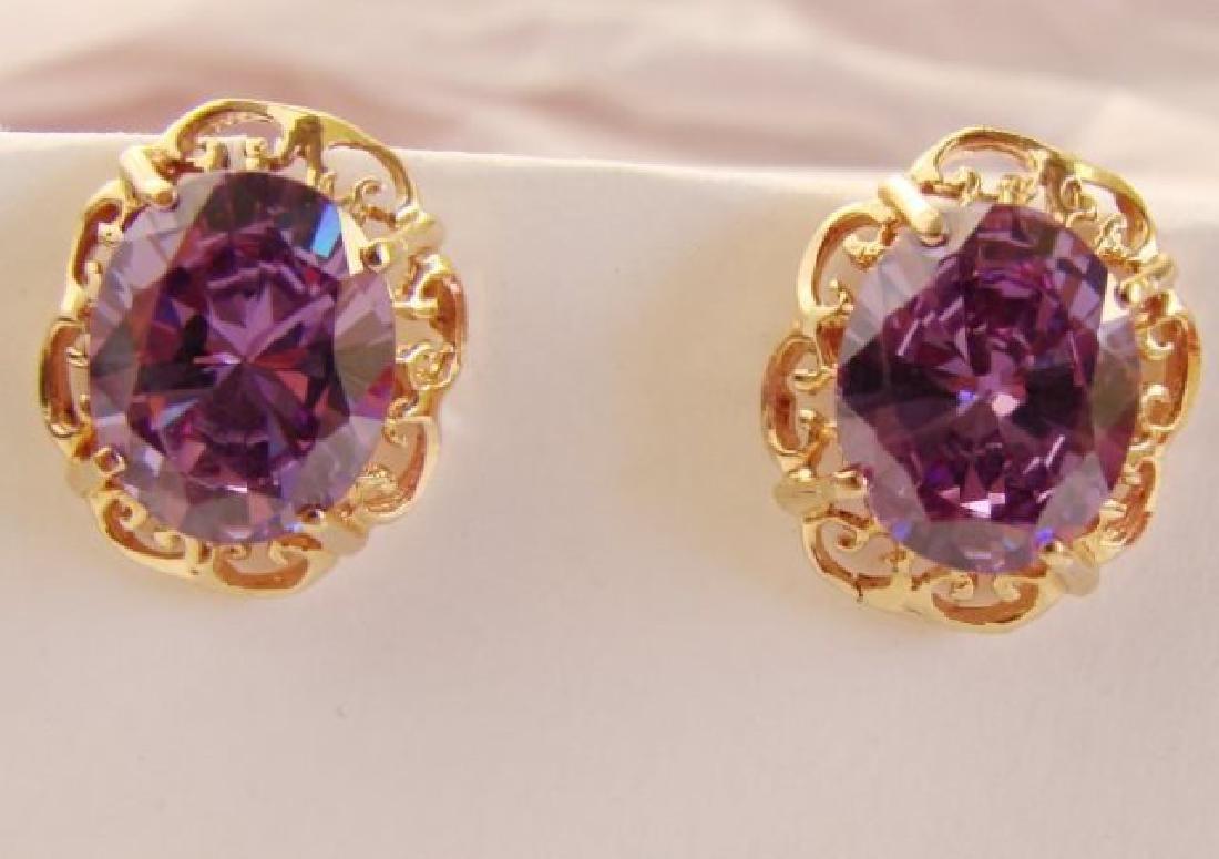 Amethyst Earrings 11.24Ct 18k Rose Gold - 4