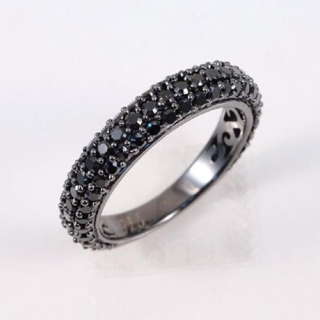 Creation Black Diamonds 1.10Ct 18k Antique/g Overlay