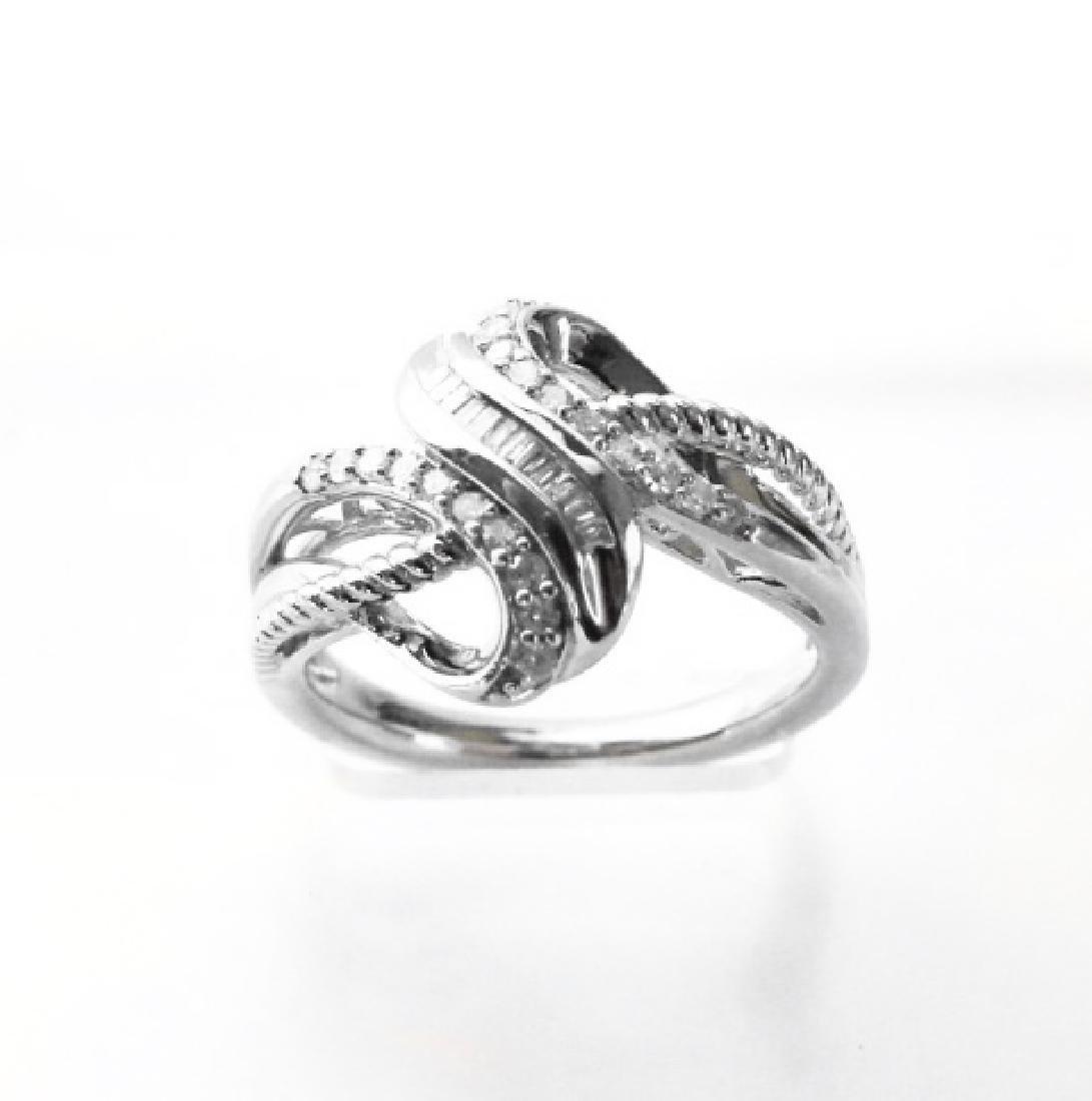 Vintage Diamond Ring .53CT 18k W/g Overlay