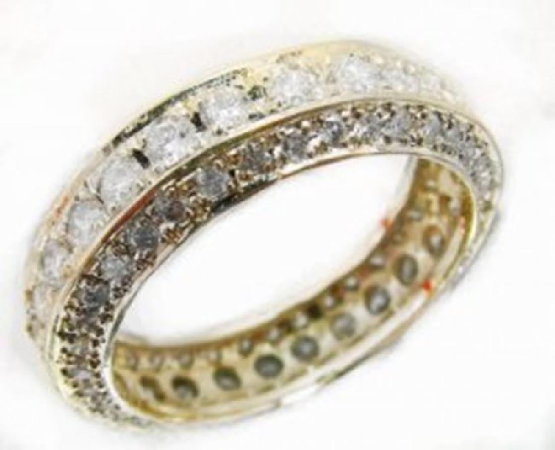 Diamond Eternity Ring 2.66Ct 14k Y/g