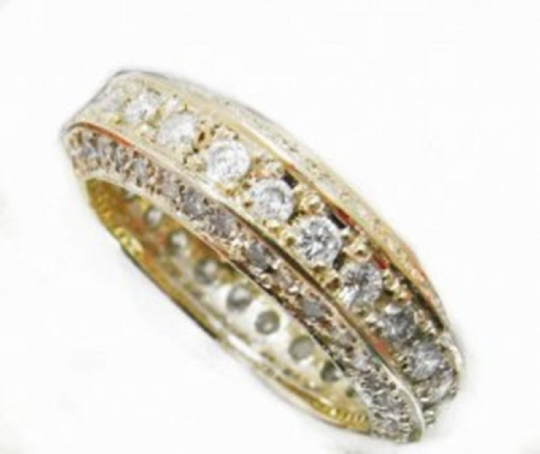 Diamond Eternity Ring 2.66Ct 14k Y/g - 2