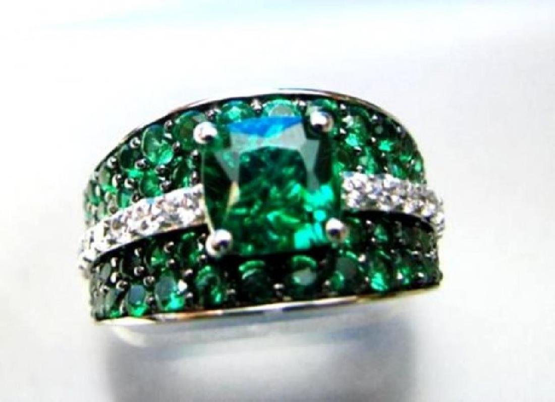 Creation Diamonds Emerald Ring 3.75Ct 18k W/g Over