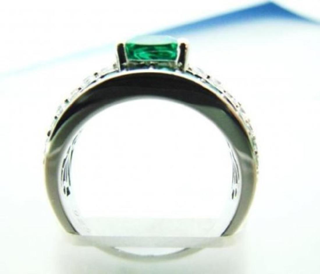 Creation Diamonds Emerald Ring 3.75Ct 18k W/g Over - 3