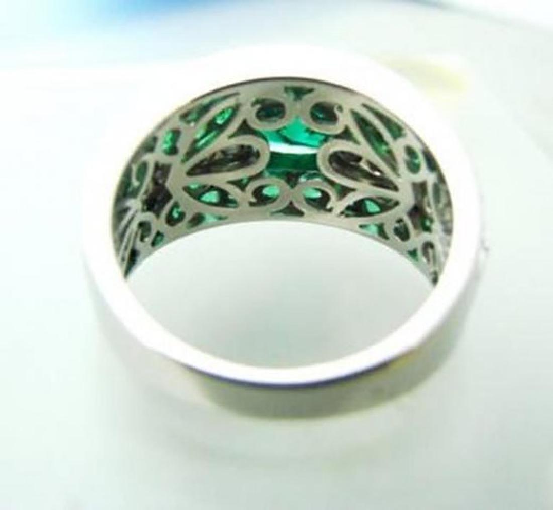 Creation Diamonds Emerald Ring 3.75Ct 18k W/g Over - 4