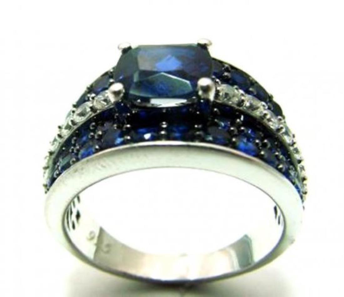 Creation Dia/Sapphire Ring 3.75Ct 18k W/g Overlay - 3