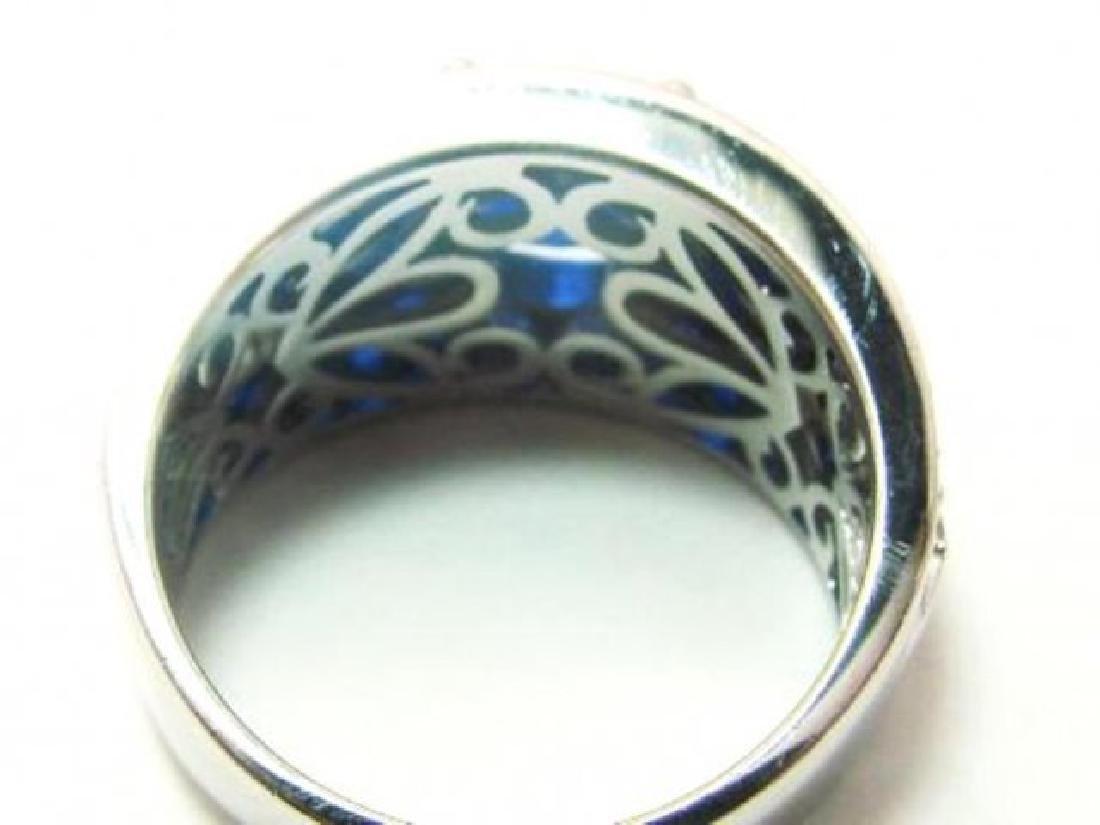 Creation Dia/Sapphire Ring 3.75Ct 18k W/g Overlay - 4