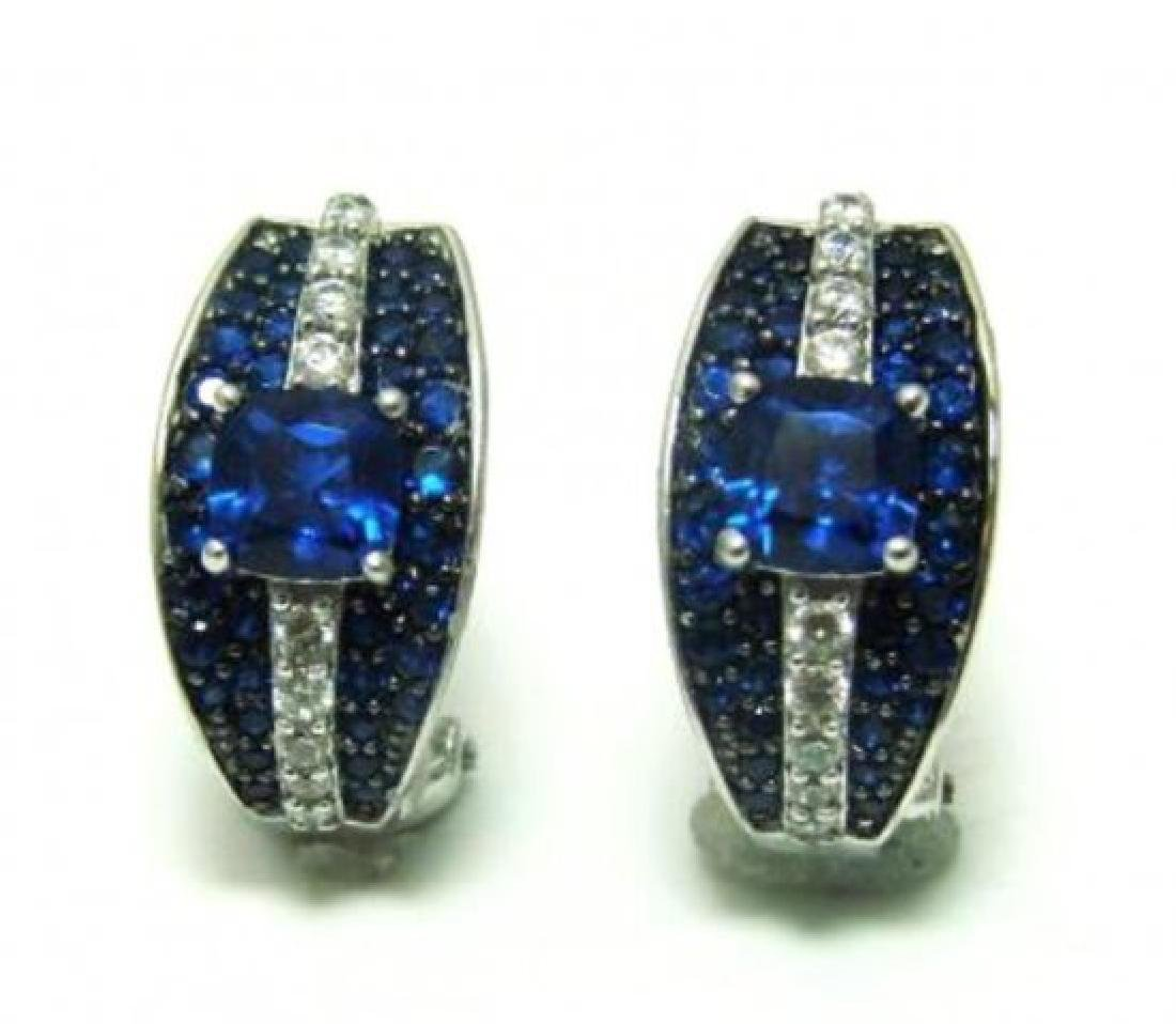 Diamond Sapphire Creation Ear 7.50Ct 18k W/g Over