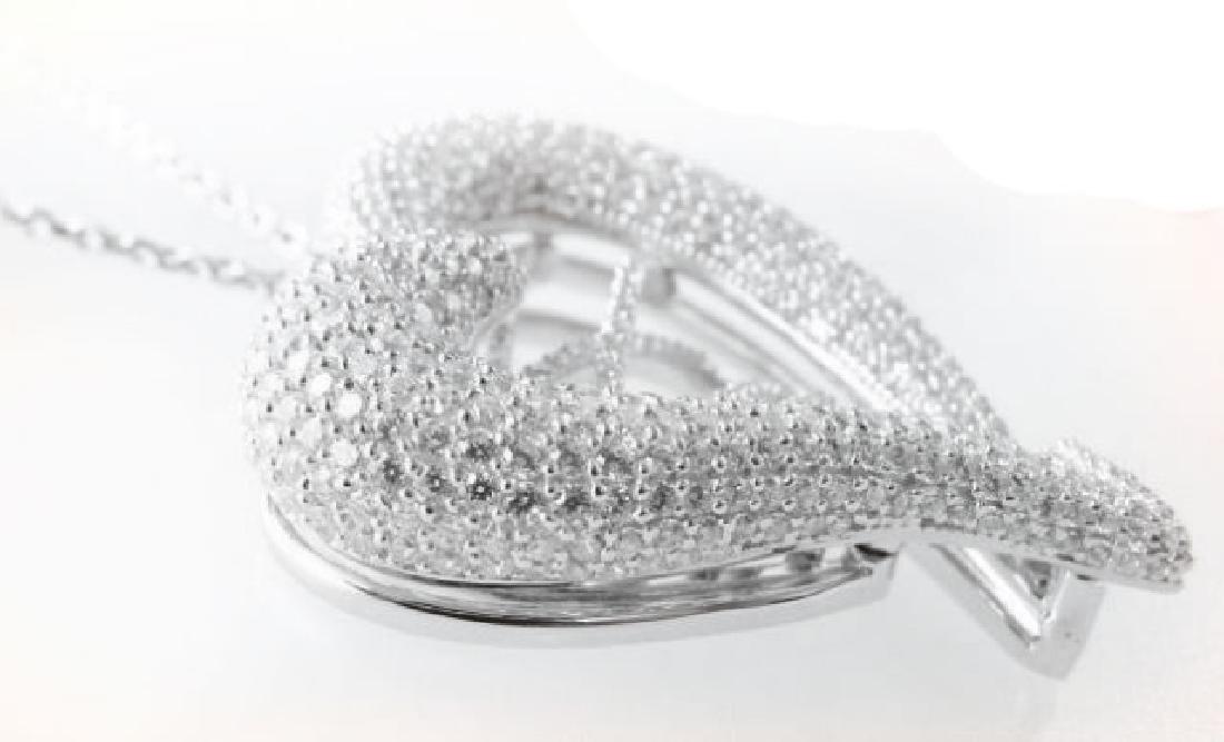 Creation Diamond Heart Pendant 4.80Ct 18k W/g Overlay - 4