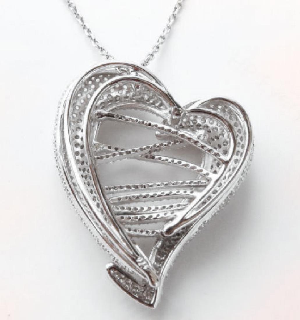 Creation Diamond Heart Pendant 4.80Ct 18k W/g Overlay - 5