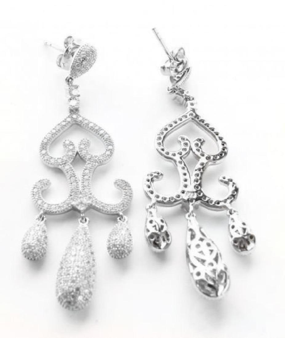 Creation  Diamond Earring 2.75Ct 18k W/G Overlay - 3