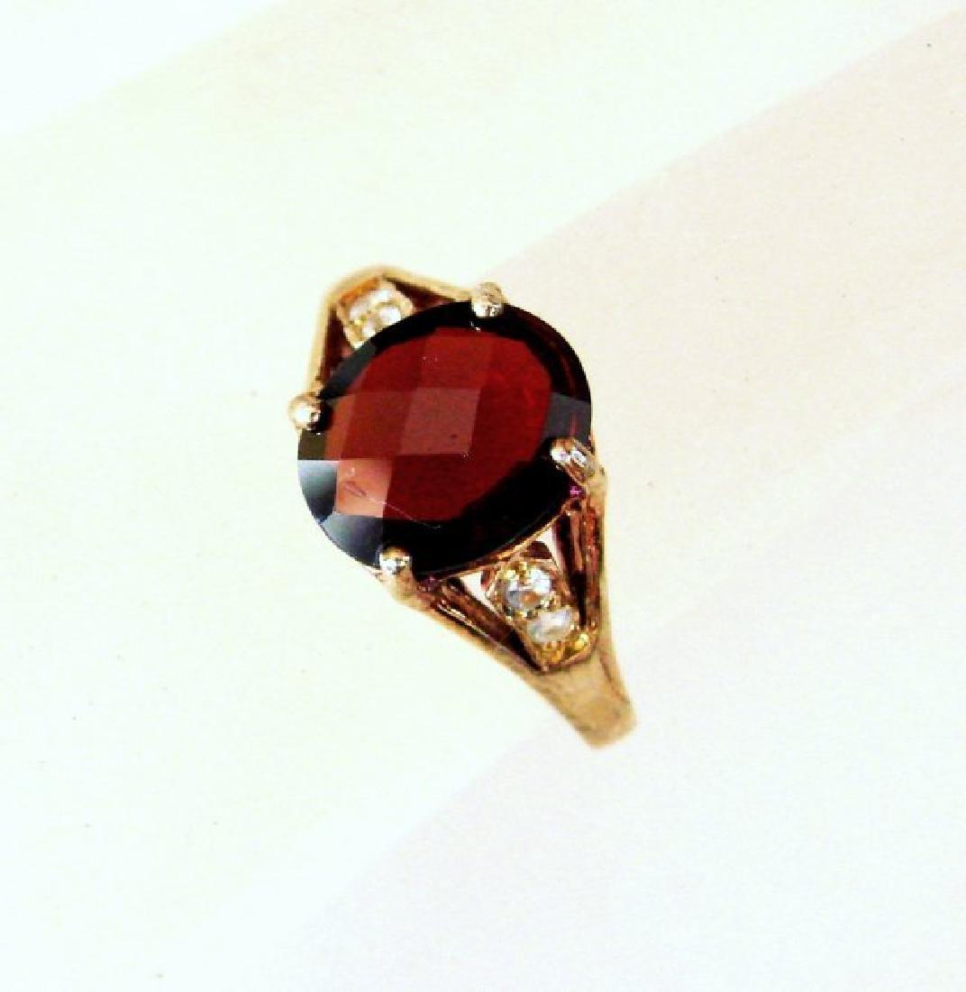 Anniversary Ring Natural Diamond Garnet 3.20Ct 14k Y/g - 2
