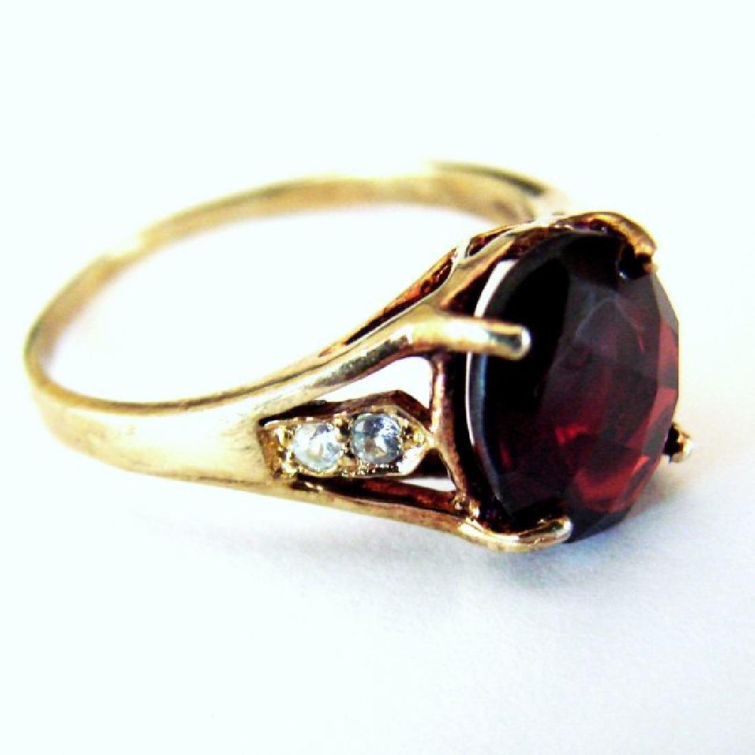 Anniversary Ring Natural Diamond Garnet 3.20Ct 14k Y/g - 3