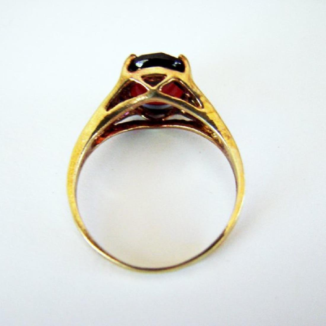 Anniversary Ring Natural Diamond Garnet 3.20Ct 14k Y/g - 4