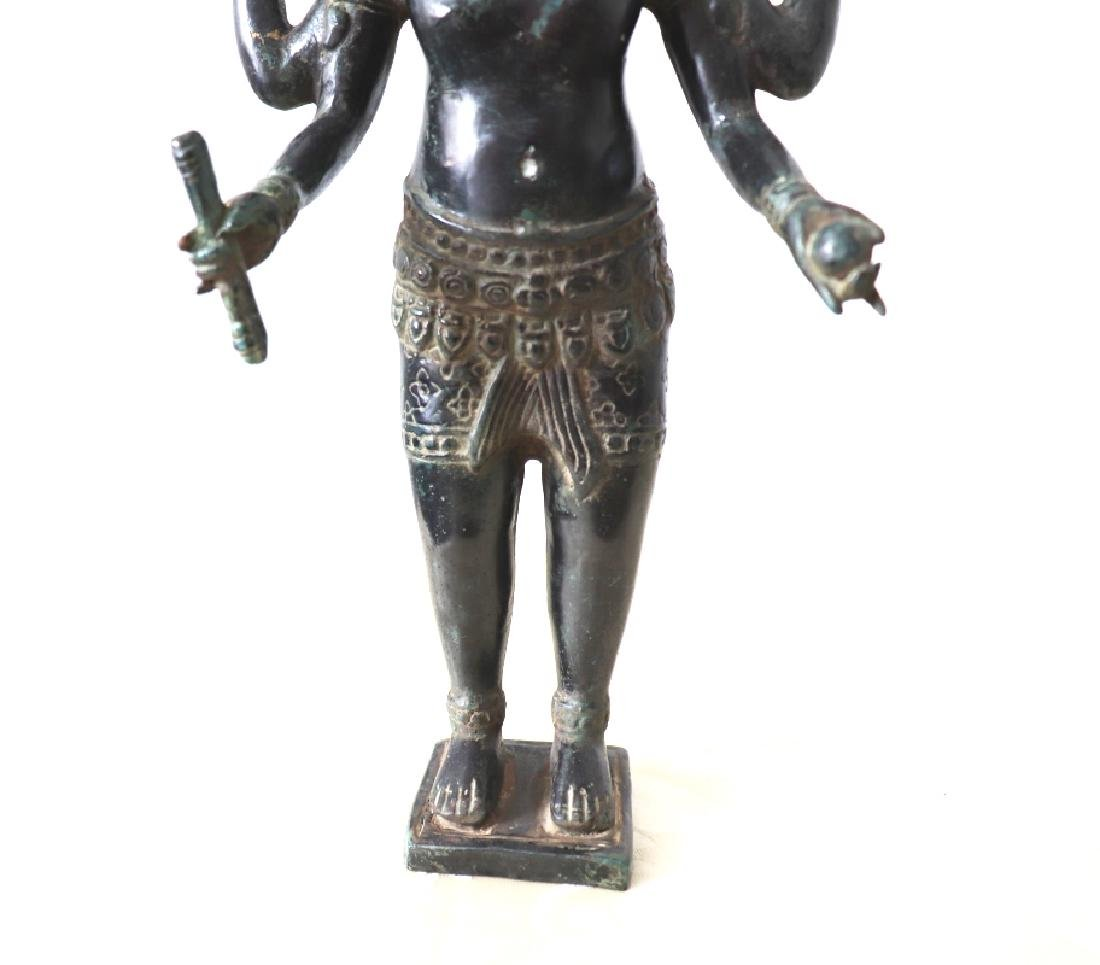 Khmer Angkor,Buddha Brass King Statue 12th Century - 5