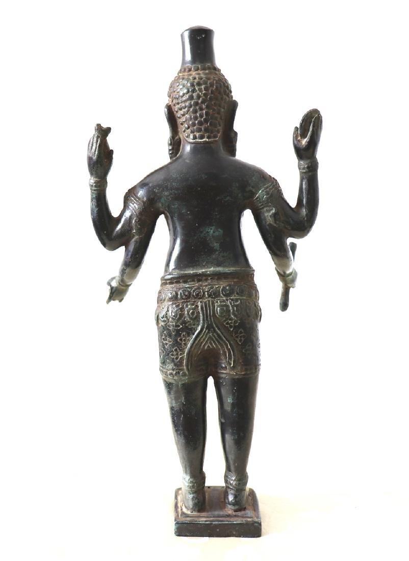 Khmer Angkor,Buddha Brass King Statue 12th Century - 6