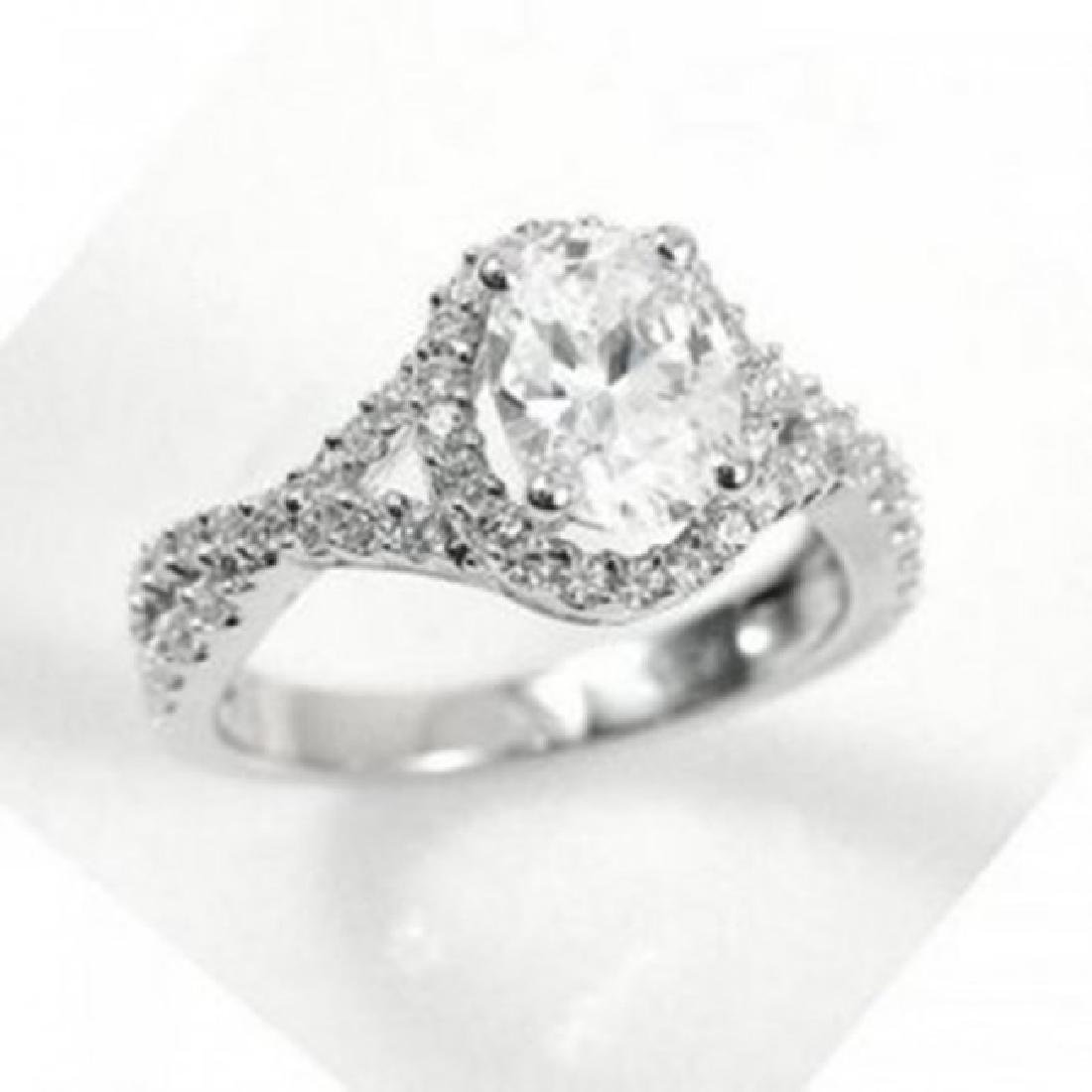 Creation Diamond Ring 1.91Ct 14k W/G Overlay