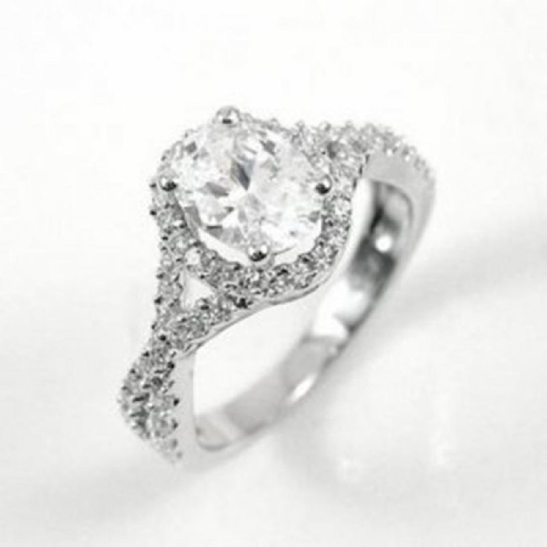 Creation Diamond Ring 1.91Ct 14k W/G Overlay - 2