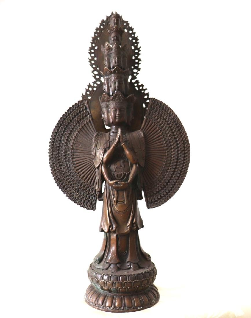 Thousand Arm Buddha Bronze Statue 12th Century