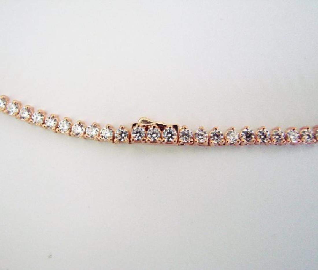 Necklace Diamond Creation 20.00Ct 18k R/g Overlay - 5