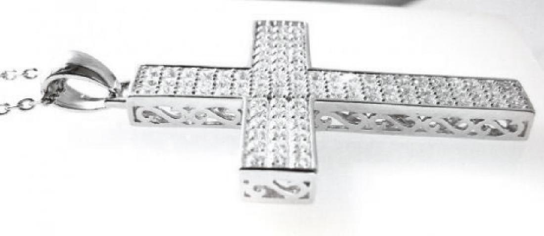 Cross Pendant Dia: Creation 2.48Ct 18k W/g Over - 3