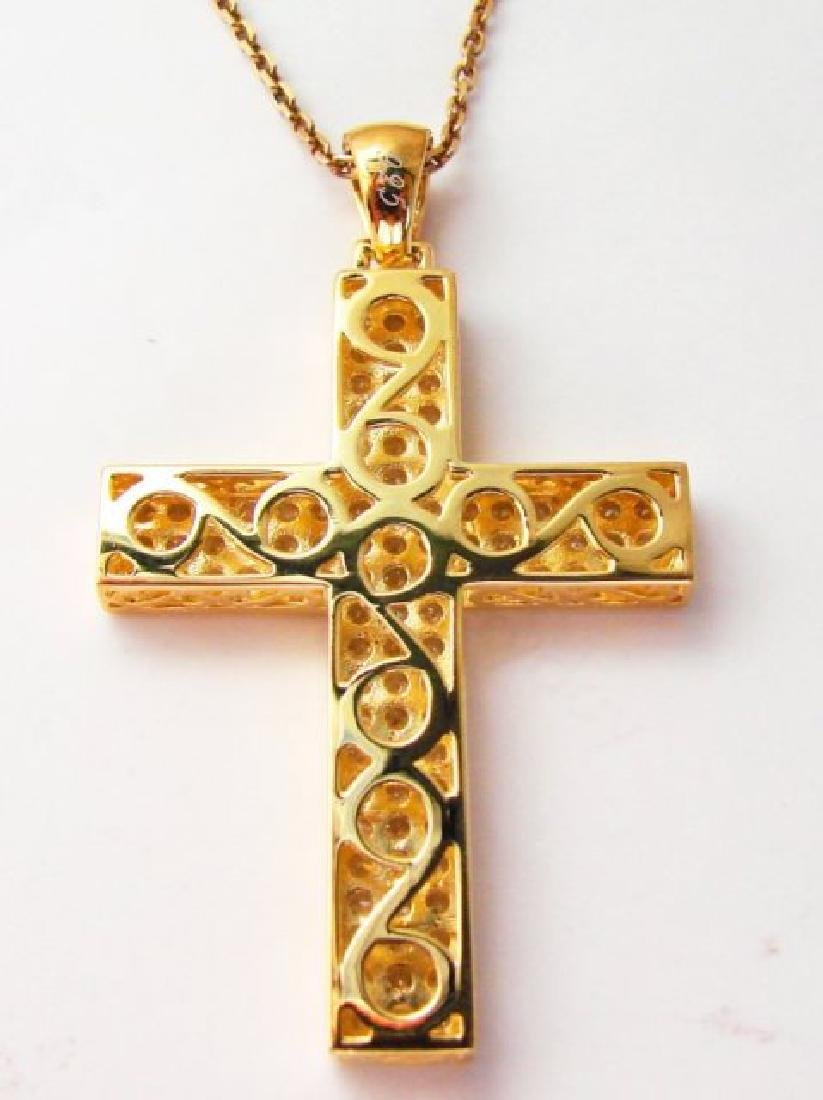 Cross Pendant Dia: Creation 2.48Ct 18k Y/g Over - 2