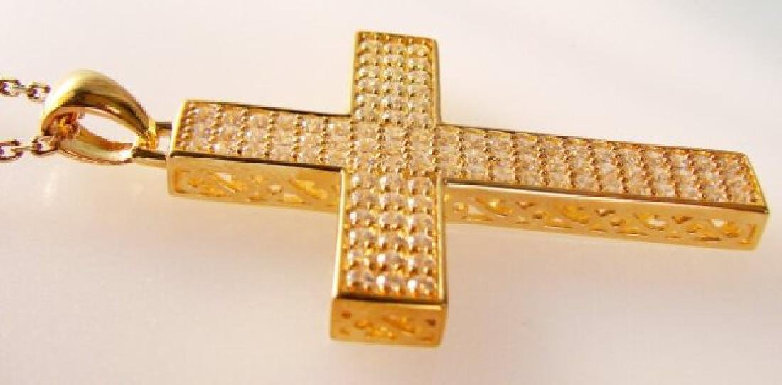Cross Pendant Dia: Creation 2.48Ct 18k Y/g Over - 3