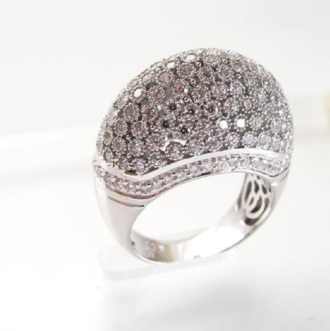 Antique Ring Creation Diamond 2.20Ct 18k W/g Over - 3