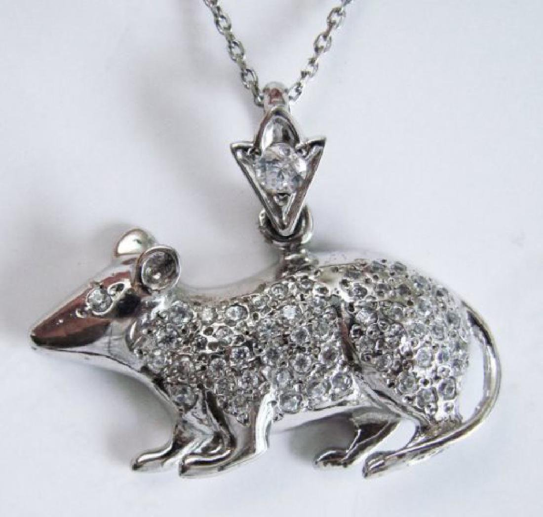 Mice Pendant Diamond Creation 1.20Ct 18k W/g Over