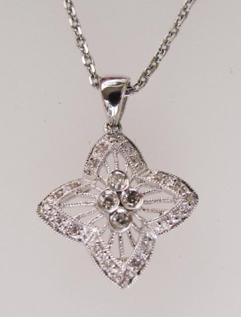 Star Diamonds Pendant .30Ct 14k W/g