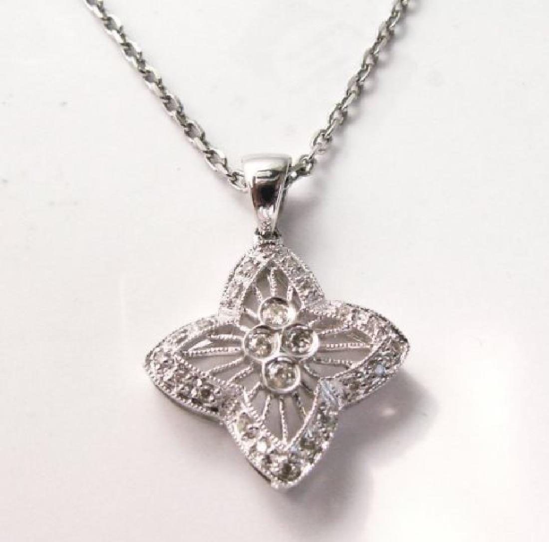 Star Diamonds Pendant .30Ct 14k W/g - 2